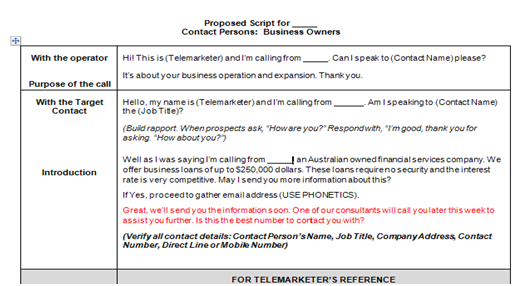 Don't Waste a Moment! See Sample Cold Calling Scripts For
