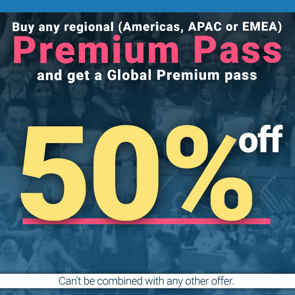 Discount 50% off Global Premium Ticket